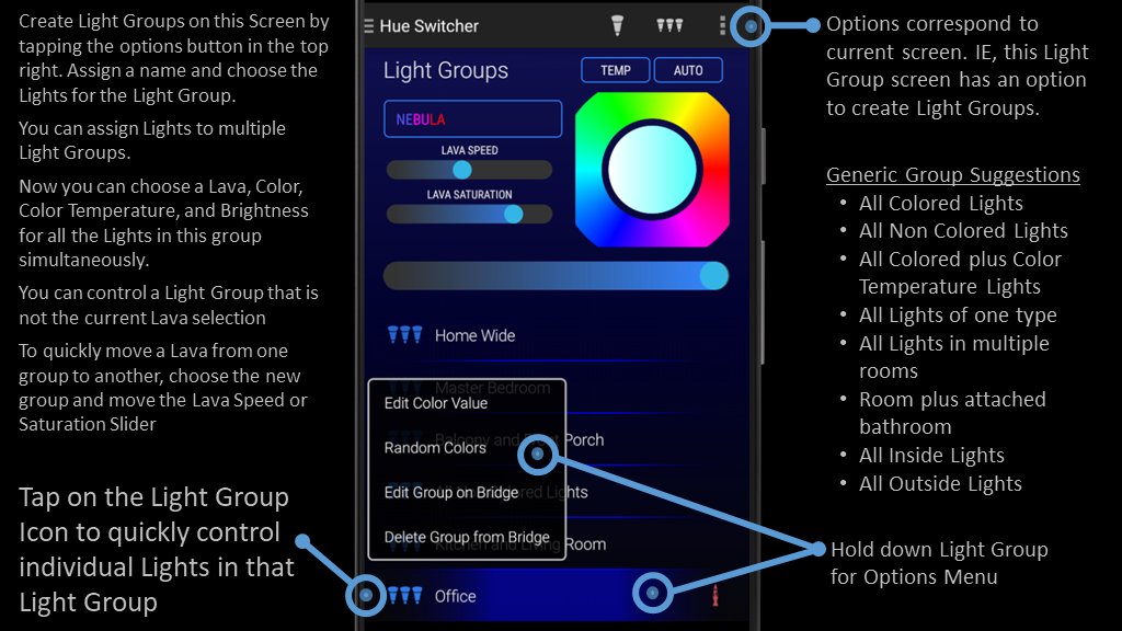 Instructions Hue Switcher